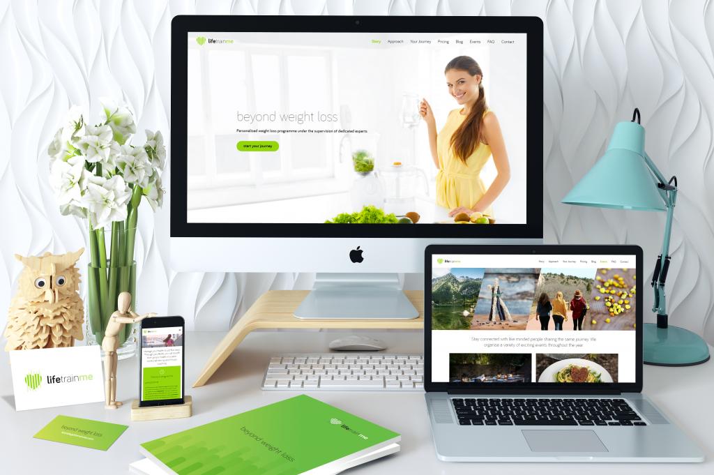 brand sănătos web design website